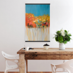 Magnetic 20 x 30 - Colorful abstract small flowers