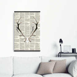 Magnetic 20 x 30 - Deer horns on newspaper