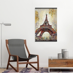 Magnetic 20 x 30 - Abstract eiffel tower