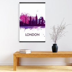 Magnetic 20 x 30 - Purple silhouette of london