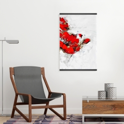 Magnetic 20 x 30 - Abstract red flowers with texture