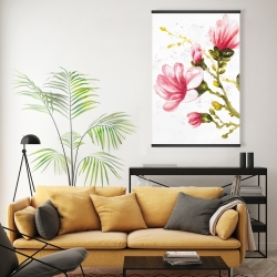 Magnetic 20 x 30 - Watercolor magnolia flowers
