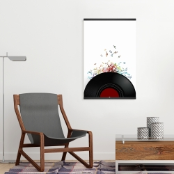 Magnetic 20 x 30 - Notes escaping from a vinyl record