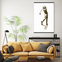 Magnetic 20 x 30 - Illustration of a golfer