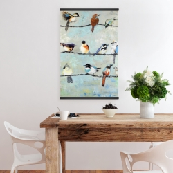 Magnetic 20 x 30 - Small colorful birds