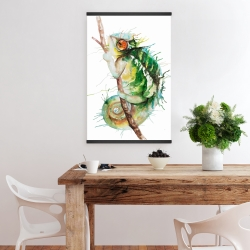Magnetic 20 x 30 - Watercolor chameleon