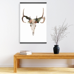Magnetic 20 x 30 - Deer skull with roses