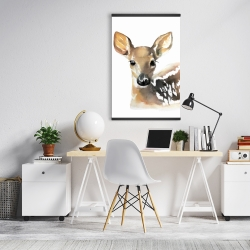 Magnetic 20 x 30 - Watercolor fawn face