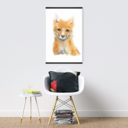 Magnetic 20 x 30 - Watercolor baby fox