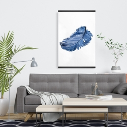 Magnetic 20 x 30 - Watercolor blue feather