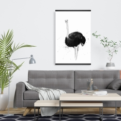 Magnetic 20 x 30 - Ostrich in watercolor
