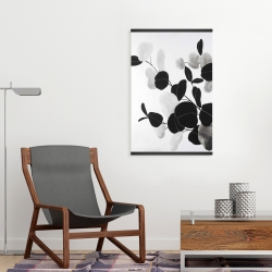 Magnetic 20 x 30 - Grayscale branches with leaves