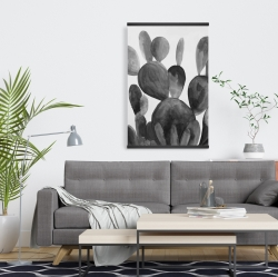 Magnetic 20 x 30 - Grayscale paddle cactus plant