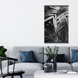 Magnetic 20 x 30 - Monochrome tropicals leaves
