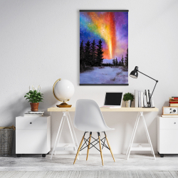 Magnetic 20 x 30 - Aurora borealis in the forest