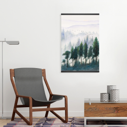 Magnetic 20 x 30 - Mountains landscape in watercolor