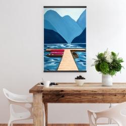 Magnetic 20 x 30 - Lake, quai & mountains