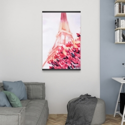 Magnetic 20 x 30 - Pink eiffel tower