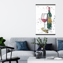 Magnetic 20 x 30 - Bottle of red wine