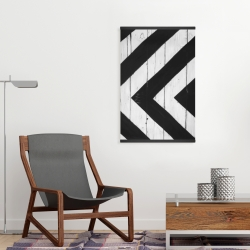 Magnetic 20 x 30 - Rhombus on wood