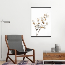 Magnetic 20 x 30 - A branch of cotton flowers