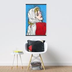 Magnetic 20 x 30 - Pop art woman