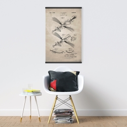 Magnetic 20 x 30 - Beige blueprint of a fish lure
