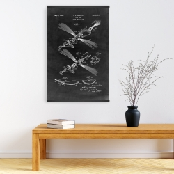 Magnetic 20 x 30 - Black blueprint of a fish lure