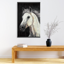 Magnetic 20 x 30 - White star horse
