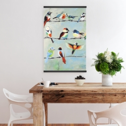 Magnetic 20 x 30 - Small abstract colorful birds