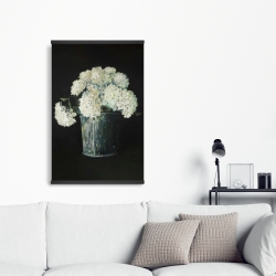 Magnetic 20 x 30 - White hydrangea flowers