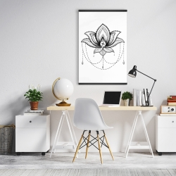 Magnetic 20 x 30 - Ethnic lotus ornament