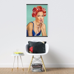 Magnetic 20 x 30 - Pin up girl with curlers