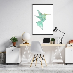 Magnetic 20 x 30 - Geometric hummingbird