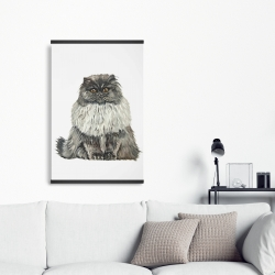 Magnetic 20 x 30 - Blue gray persian cat