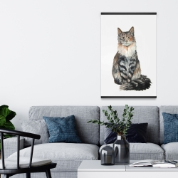 Magnetic 20 x 30 - Norwegian forest cat