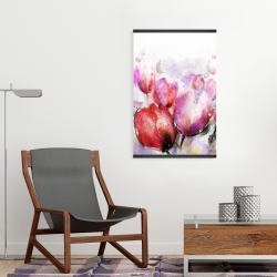 Magnetic 20 x 30 - Abstract blurry tulips