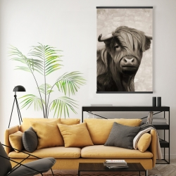 Magnetic 20 x 30 - Highland cattle sepia
