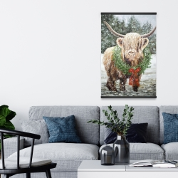 Magnetic 20 x 30 - Highland christmas cow