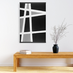 Magnetic 20 x 30 - Black and white abstract shapes