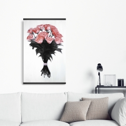 Magnetic 20 x 30 - Bouquet of coral roses