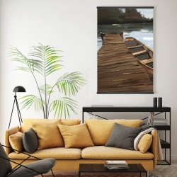 Magnetic 20 x 30 - Lake, dock and boat