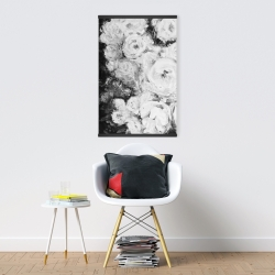 Magnetic 20 x 30 - Monochrome rose garden