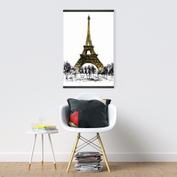 Magnetic 20 x 30 - Outline of eiffel tour