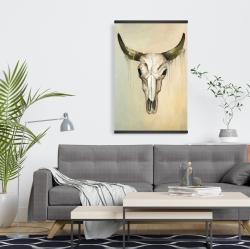 Magnetic 20 x 30 - Color fading bull skull