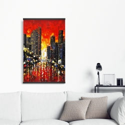 Magnetic 20 x 30 - Abstract sunset on the city