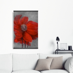 Magnetic 20 x 30 - Red flower in the wind