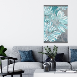 Magnetic 20 x 30 - Three little abstract blue flowers