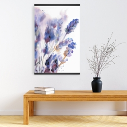Magnetic 20 x 30 - Watercolor lavender flowers with blur effect