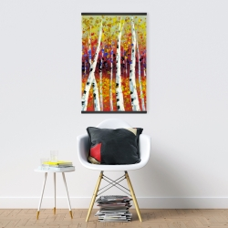 Magnetic 20 x 30 - Colored birches